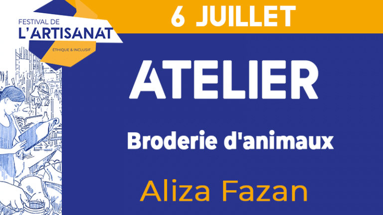 [Atelier] Broderie d'animaux