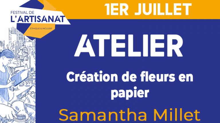 [Atelier] Création de fleurs en papier